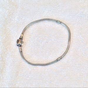 "Pandora Iconic Sterling Silver Charm Bracelet 7.5"""